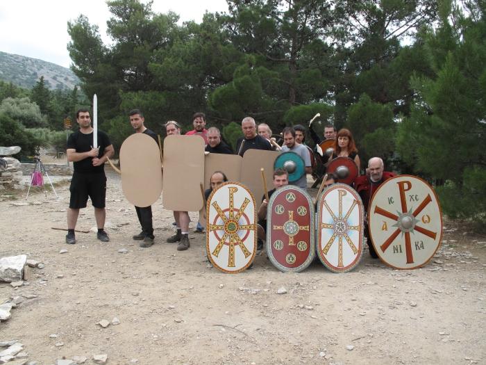 Απο το 'Εργαστήριο Βυζαντινής οπλομαχίας Πρώιμης Περιόδου'